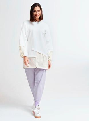 White - Polo neck - Tunic