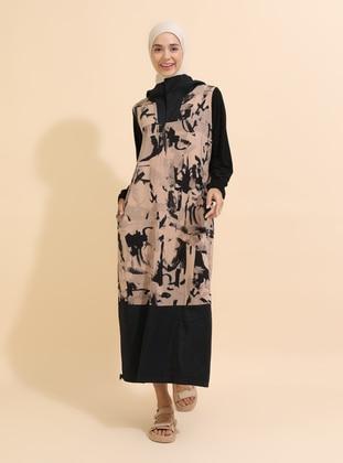Salmon - Unlined - Modest Dress