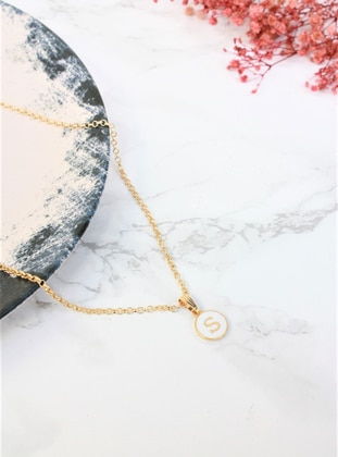 White - Gold - Necklace