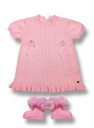 Crew neck - Powder - Baby Dress