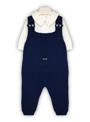 Navy Blue - Baby Sleepsuit - BY LEYAL
