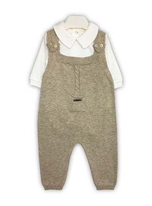 Beige - Baby Sleepsuit