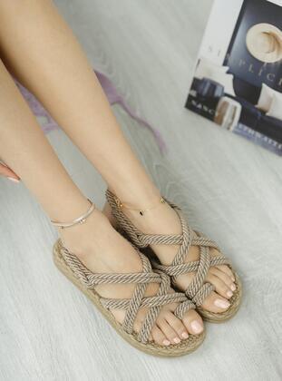 Black - Sandal - Sandal - MUGGO AYAKKABI