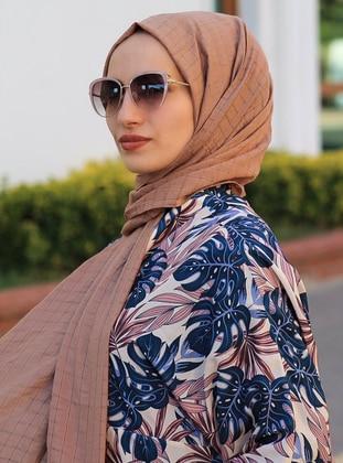 Women Scarf Chain Shaped Gold Foil Fringe Trendy Voile Foil Shawl Wrap Hijab 6A