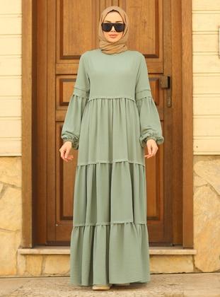 Mint - Crew neck - Modest Dress