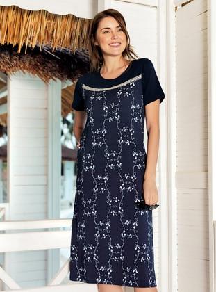 Navy Blue - Loungewear Dresses - Free Angel
