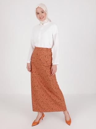 Terra Cotta - Multi - Unlined - Skirt