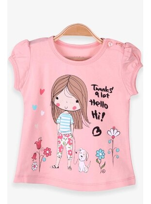 Salmon - Girls` T-Shirt - Breeze Girls&Boys
