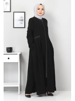 Black - Plus Size Abaya
