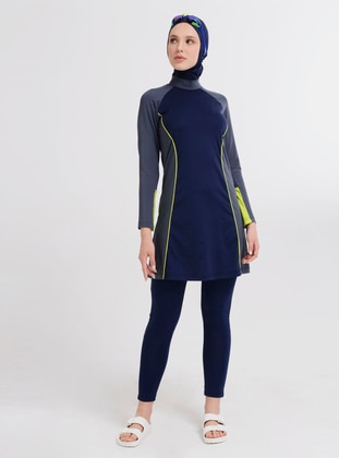 Navy Blue - Full Coverage Swimsuit Burkini