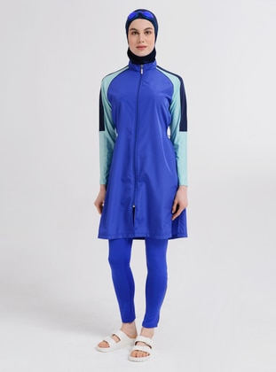 Saxe - Multi - Fully Lined - Full Coverage Swimsuit Burkini