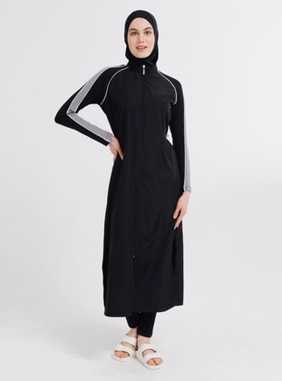 Black - Full Coverage Swimsuit Burkini