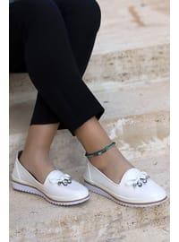 White - Flat Shoes