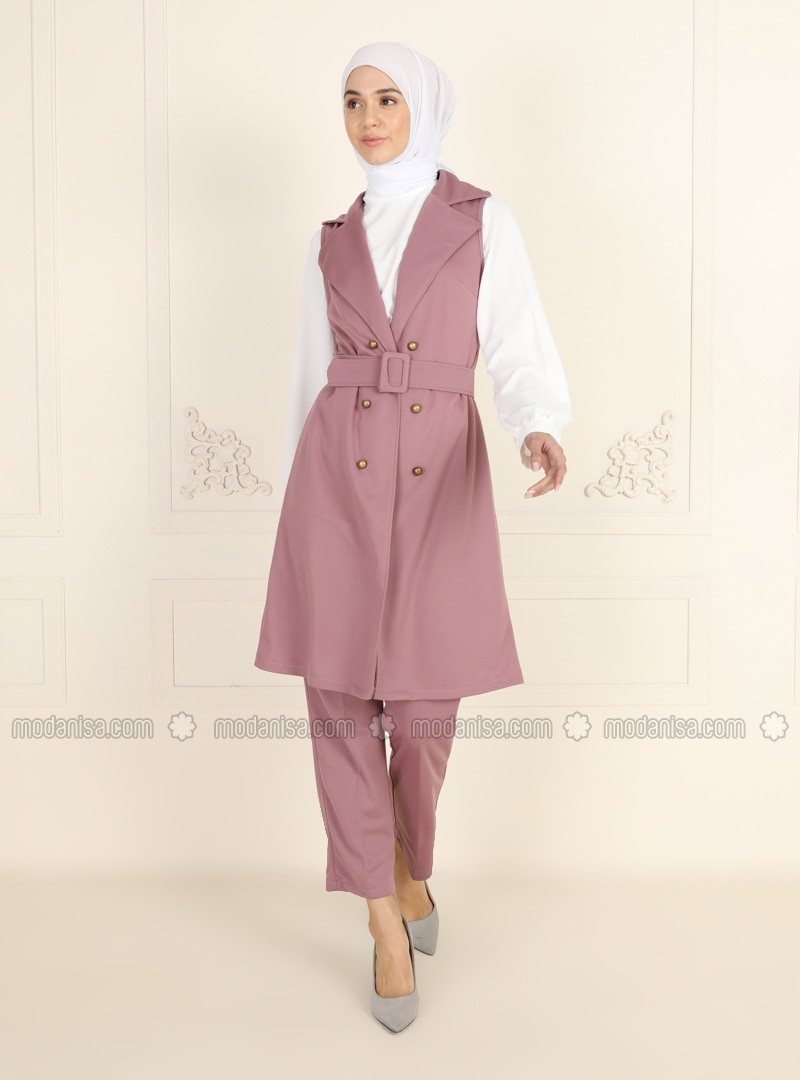 Unlined - Dusty Rose - Shawl Collar - Evening Suit