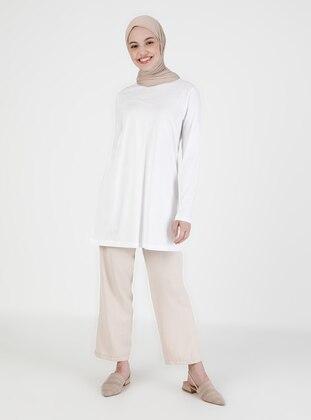 White - T-Shirt - Saye Modest