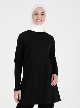 Black - T-Shirt - Saye Modest