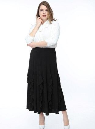 Black - Multi - Fully Lined - Skirt