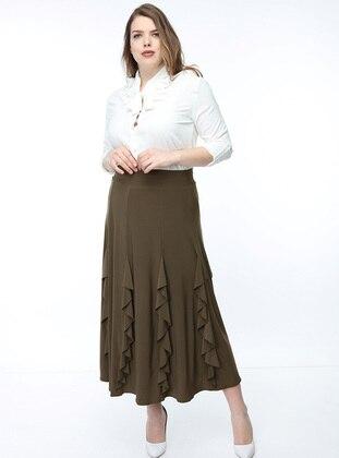 Mink - Multi - Fully Lined - Skirt