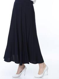 Navy Blue - Multi - Skirt