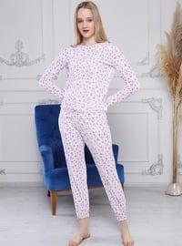Multi - Crew neck - Multi - Pyjama Set