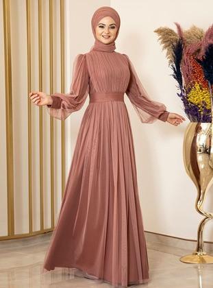 Fully Lined - Onion Skin - Crew neck - Evening Dresses - Fashion Showcase Design