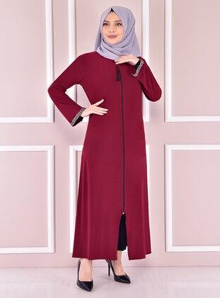 Maroon - Evening Abaya - Moda Merve