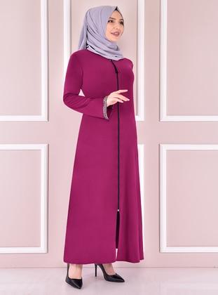 Fuchsia - Evening Abaya - Moda Merve