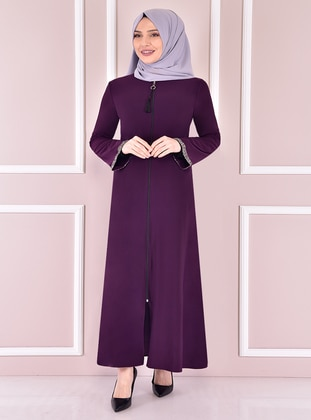Purple - Evening Abaya - Moda Merve
