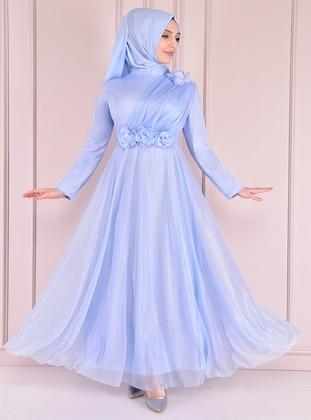 Baby Blue - Modest Evening Dress