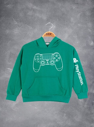 Green - Boys` Sweatshirt - Toontoy