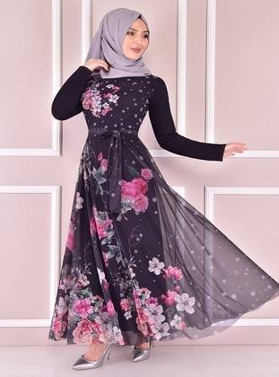 Black - Modest Evening Dress