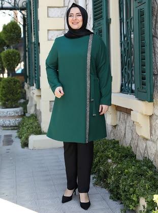 Emerald - Crew neck - Plus Size Evening Tunics - Emsale