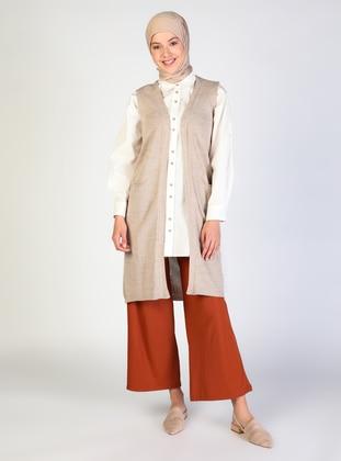 Unlined - Beige - Knitwear
