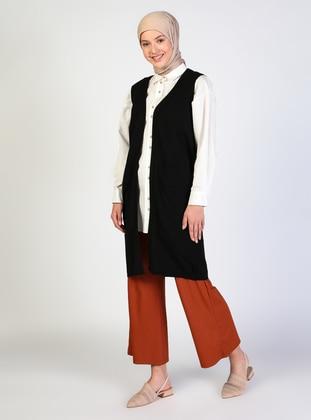 Unlined - Black - Knitwear - İLMEK TRİKO