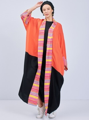 Coral - Multi - Unlined - Abaya
