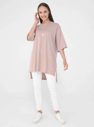 Pink - Cotton - T-Shirt - Benin