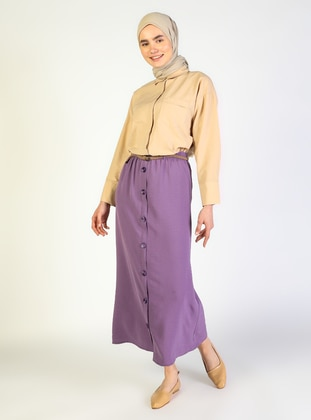 Lilac - Unlined - Skirt