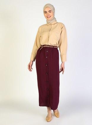 Purple - - Unlined - Skirt