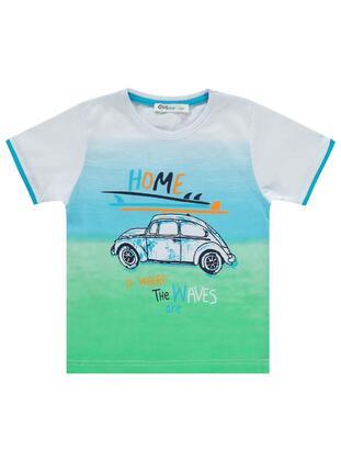 Turquoise - Boys` T-Shirt - Civil