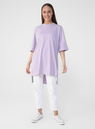 Lilac - Cotton - T-Shirt - Benin