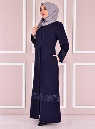 Navy Blue - Plus Size Abaya
