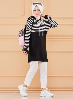 Black - Stripe - Tunic