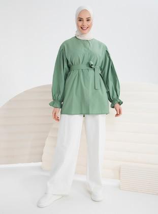 Green Almond - Crew neck - Tunic