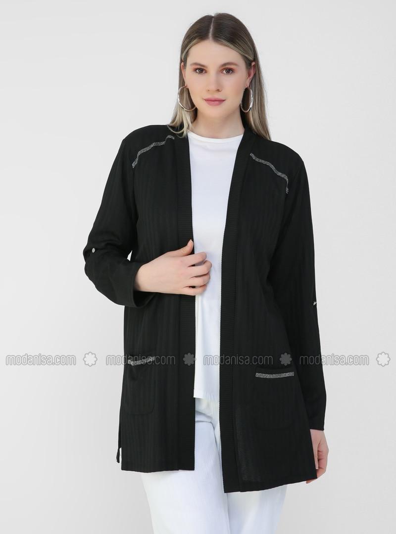 Black - Plus Size Cardigan