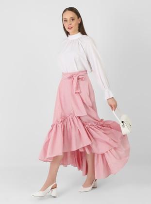 Red - Stripe - Unlined - Skirt