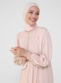 Powder - Crew neck - Half Lined - Viscose - Modest Dress