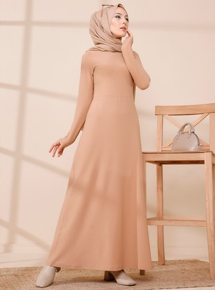 Mink - Crew neck - Modest Dress