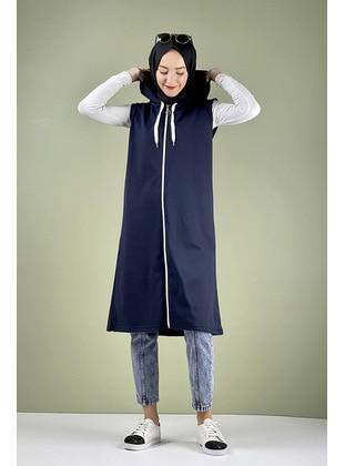 Navy Blue - Vest - MODAPİNHAN