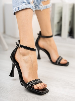 Black - High Heel - Evening Shoes - Ayakkabı Havuzu