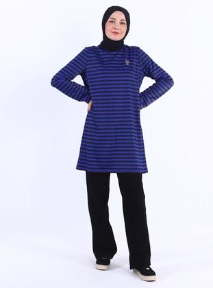 Saxe - Black - Stripe - Crew neck - Tunic